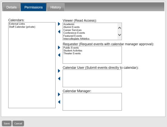 Configure Users in Master Calendar