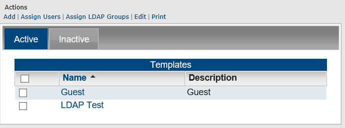 Managing user templates the user templates page opens on the active tab which lists all currently active user templates in master calendar maxwellsz