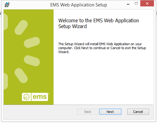 Install or Upgrade to the EMS Web App