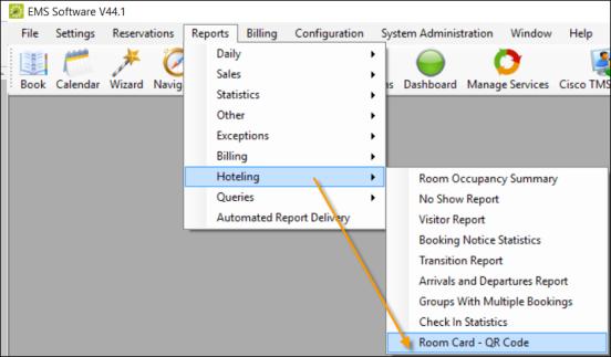 Configure and Generate Room QR Codes V44 1 (EMS Desktop Client)