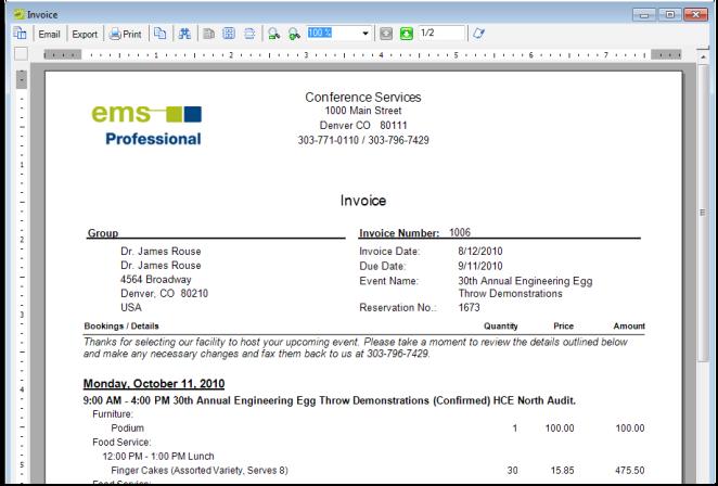 work with invoices v44 1 ems desktop client